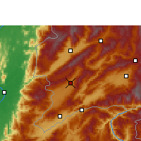 Nearby Forecast Locations - Longchuan/YNN - Χάρτης