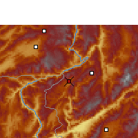 Nearby Forecast Locations - Zhenkang - Χάρτης