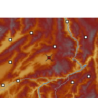 Nearby Forecast Locations - Dehongzhou - Χάρτης