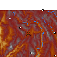 Nearby Forecast Locations - Yun Xian - Χάρτης