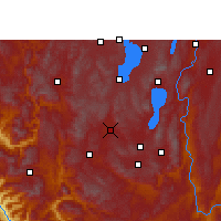 Nearby Forecast Locations - Yuxi - Χάρτης