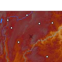 Nearby Forecast Locations - Luxi/YNN - Χάρτης