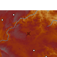 Nearby Forecast Locations - Qiubei - Χάρτης