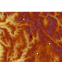 Nearby Forecast Locations - Ximeng - Χάρτης