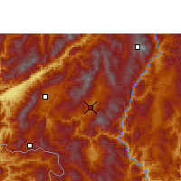 Nearby Forecast Locations - Shuangjiang - Χάρτης