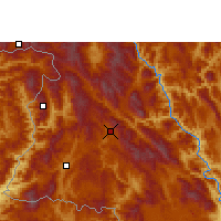 Nearby Forecast Locations - Lancang - Χάρτης