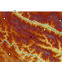 Nearby Forecast Locations - Lüchun - Χάρτης