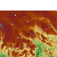 Nearby Forecast Locations - Malipo - Χάρτης