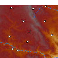 Nearby Forecast Locations - Zhangjiachuan - Χάρτης
