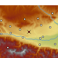 Nearby Forecast Locations - Fufeng - Χάρτης