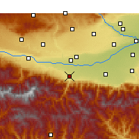 Nearby Forecast Locations - Zhouzhi - Χάρτης
