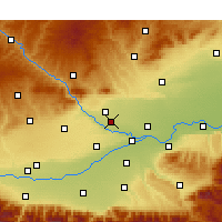 Nearby Forecast Locations - Jingyang - Χάρτης
