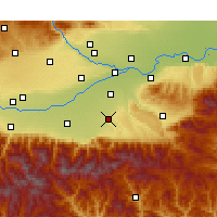 Nearby Forecast Locations - Chang'an - Χάρτης