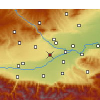 Nearby Forecast Locations - Xianyang - Χάρτης