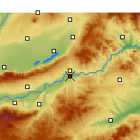 Nearby Forecast Locations - Sanmenxia - Χάρτης