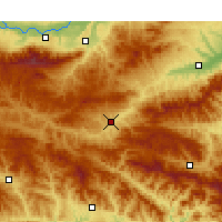 Nearby Forecast Locations - Lushi - Χάρτης