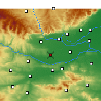 Nearby Forecast Locations - Mengzhou - Χάρτης