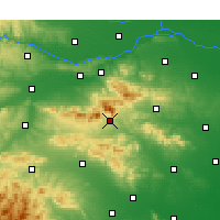 Nearby Forecast Locations - Dengfeng - Χάρτης