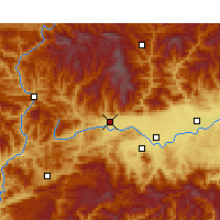 Nearby Forecast Locations - Mian Xian - Χάρτης