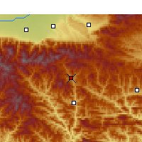Nearby Forecast Locations - Zhashui - Χάρτης