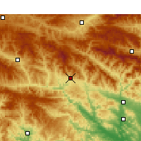 Nearby Forecast Locations - Shangnan - Χάρτης