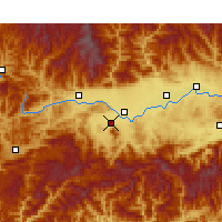 Nearby Forecast Locations - Nanzheng - Χάρτης