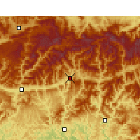 Nearby Forecast Locations - Nanjiang - Χάρτης