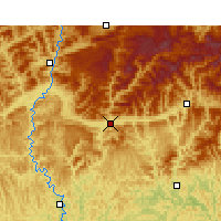 Nearby Forecast Locations - Wangcang - Χάρτης