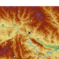 Nearby Forecast Locations - Shiquan - Χάρτης