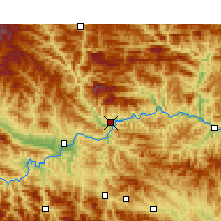 Nearby Forecast Locations - Xunyang - Χάρτης
