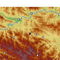 Nearby Forecast Locations - Pingli - Χάρτης