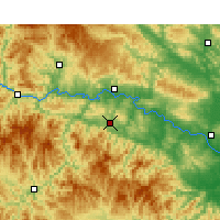Nearby Forecast Locations - Yunyang/HUB - Χάρτης
