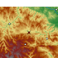 Nearby Forecast Locations - Fang Xian - Χάρτης