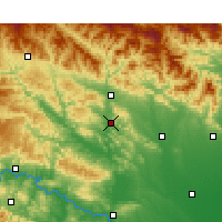 Nearby Forecast Locations - Xichuan - Χάρτης