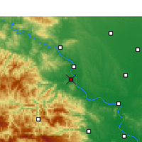 Nearby Forecast Locations - Gucheng - Χάρτης
