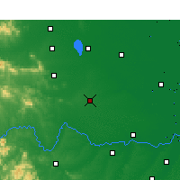 Nearby Forecast Locations - Zhengyang - Χάρτης