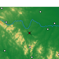 Nearby Forecast Locations - Xinyang - Χάρτης