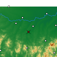 Nearby Forecast Locations - Guangshan - Χάρτης