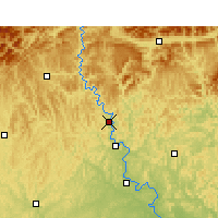 Nearby Forecast Locations - Cangxi - Χάρτης