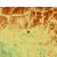 Nearby Forecast Locations - Bazhong - Χάρτης