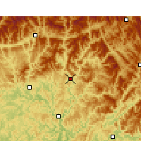 Nearby Forecast Locations - Tongjiang/SCH - Χάρτης