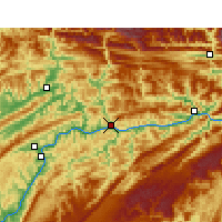 Nearby Forecast Locations - Yunyang - Χάρτης