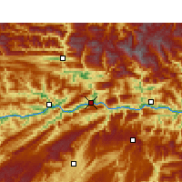 Nearby Forecast Locations - Wushan - Χάρτης