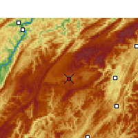 Nearby Forecast Locations - Lichuan/HUB - Χάρτης