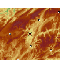 Nearby Forecast Locations - Enshi - Χάρτης