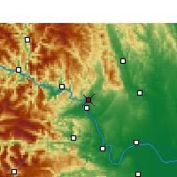Nearby Forecast Locations - Yichang - Χάρτης
