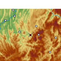 Nearby Forecast Locations - Wansheng - Χάρτης