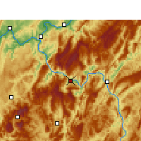 Nearby Forecast Locations - Wulong - Χάρτης