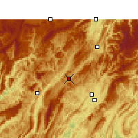 Nearby Forecast Locations - Xianfeng - Χάρτης