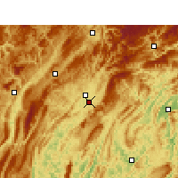 Nearby Forecast Locations - Longshan - Χάρτης